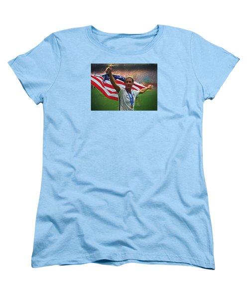 Abby Wambach Us Soccer Women's T-Shirt (Standard Cut) by Semih Yurdabak