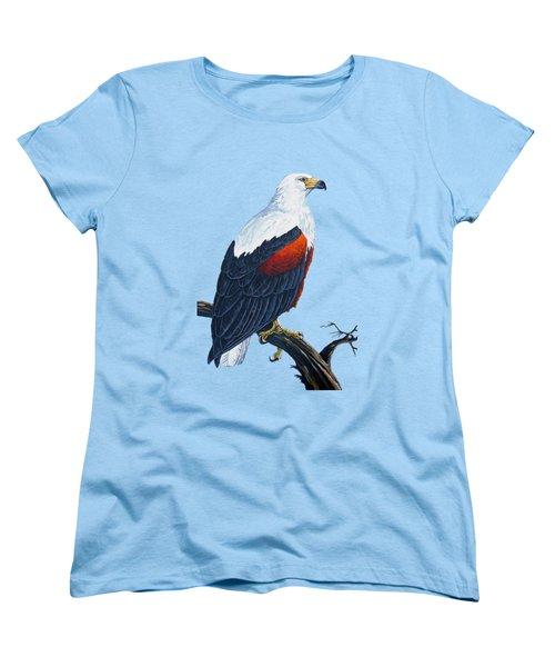 African Fish Eagle Women's T-Shirt (Standard Cut) by Anthony Mwangi