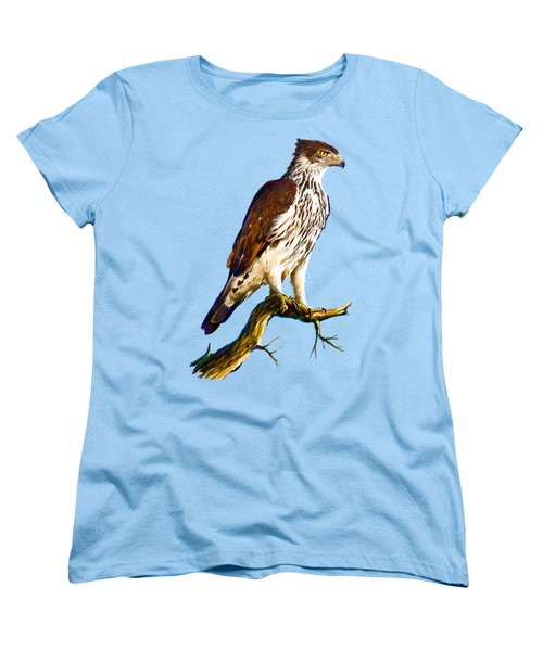 African Hawk Eagle Women's T-Shirt (Standard Cut) by Anthony Mwangi