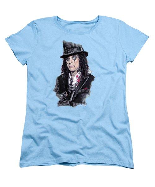 Alice Cooper Women's T-Shirt (Standard Cut) by Melanie D
