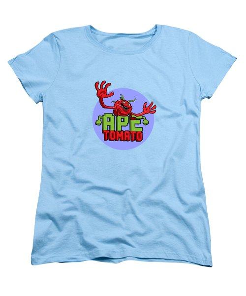 Ape Tomato Blue Purple Women's T-Shirt (Standard Cut) by Nicolas Palmer
