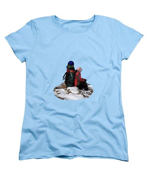 Himalayan Porter, Nepal Women's T-Shirt (Standard Cut) by Aidan Moran