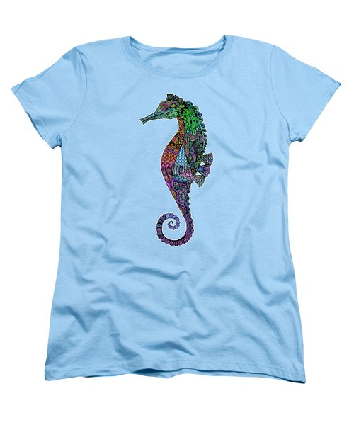 Electric Gentleman Seahorse Women's T-Shirt (Standard Cut) by Tammy Wetzel