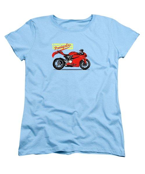 Ducati Panigale 1299 Women's T-Shirt (Standard Cut) by Mark Rogan