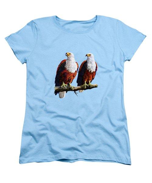 Friends Hanging Out Women's T-Shirt (Standard Cut) by Anthony Mwangi