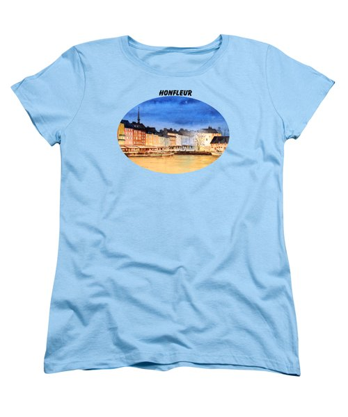 Honfleur  Evening Lights Women's T-Shirt (Standard Cut) by Bill Holkham