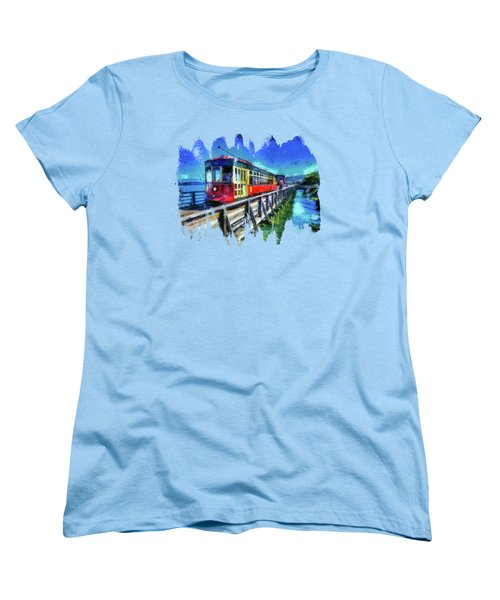 Astoria Riverfront Trolley Women's T-Shirt (Standard Cut) by Thom Zehrfeld