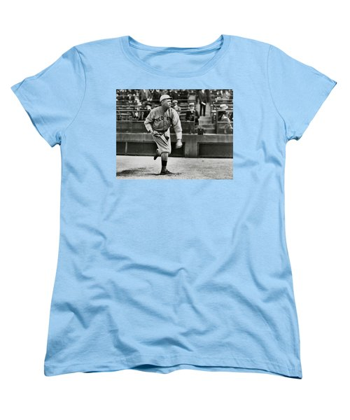 Babe Ruth - Pitcher Boston Red Sox  1915 Women's T-Shirt (Standard Cut) by Daniel Hagerman