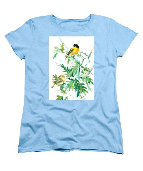 Baltimore Orioles And Oak Tree Women's T-Shirt (Standard Cut) by Suren Nersisyan