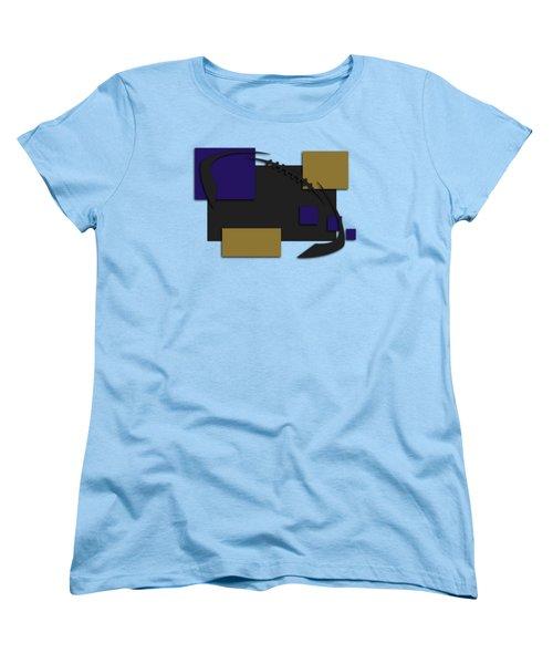 Baltimore Ravens Abstract Shirt Women's T-Shirt (Standard Cut) by Joe Hamilton