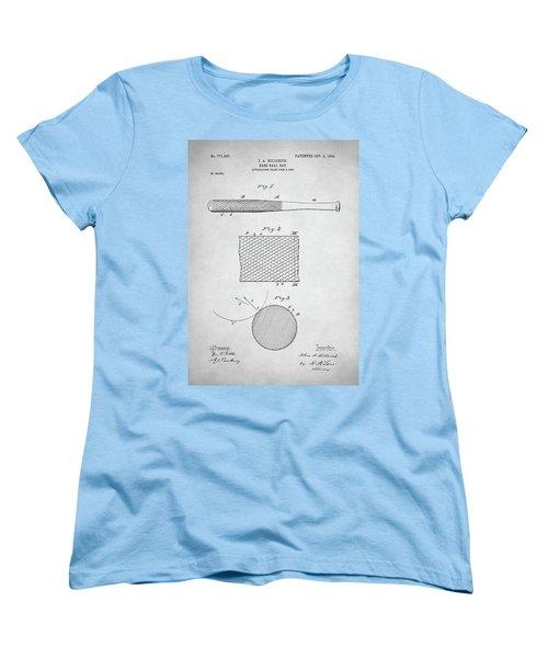 Baseball Bat Patent Women's T-Shirt (Standard Cut) by Taylan Apukovska