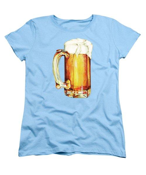Beer Pattern Women's T-Shirt (Standard Cut) by Kelly Gilleran