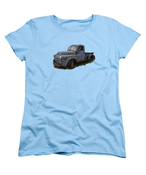 Big Blue Dodge Alone Women's T-Shirt (Standard Cut) by Debra and Dave Vanderlaan