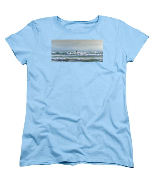 Women's T-Shirt (Standard Cut) featuring the photograph Big Surf Invitational I by Thierry Bouriat
