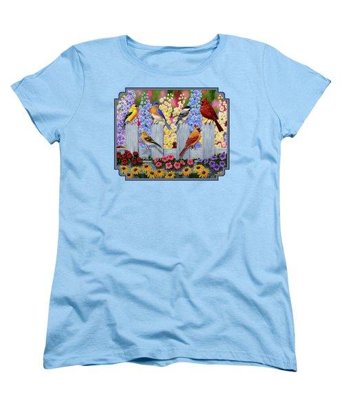 Bird Painting - Spring Garden Party Women's T-Shirt (Standard Cut) by Crista Forest