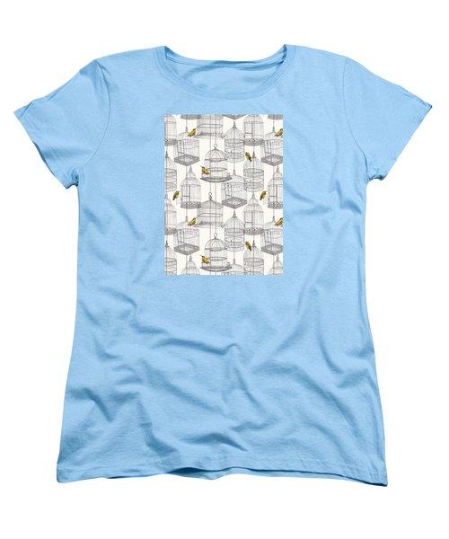 Birdcages Women's T-Shirt (Standard Cut) by Stephanie Davies