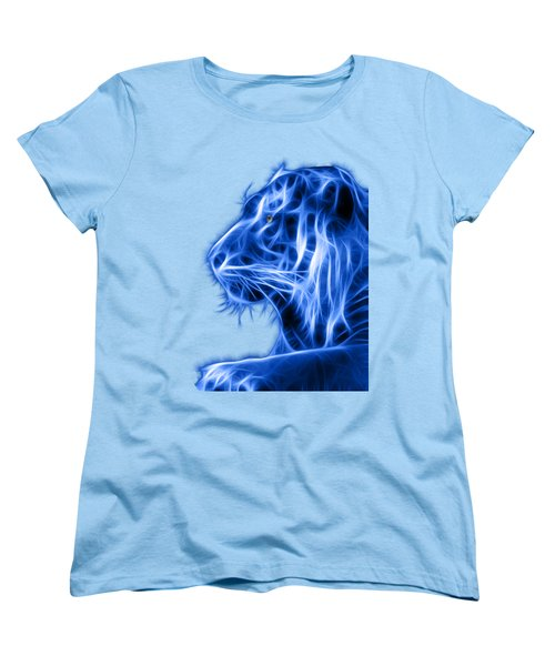 Blue Tiger Women's T-Shirt (Standard Cut) by Shane Bechler