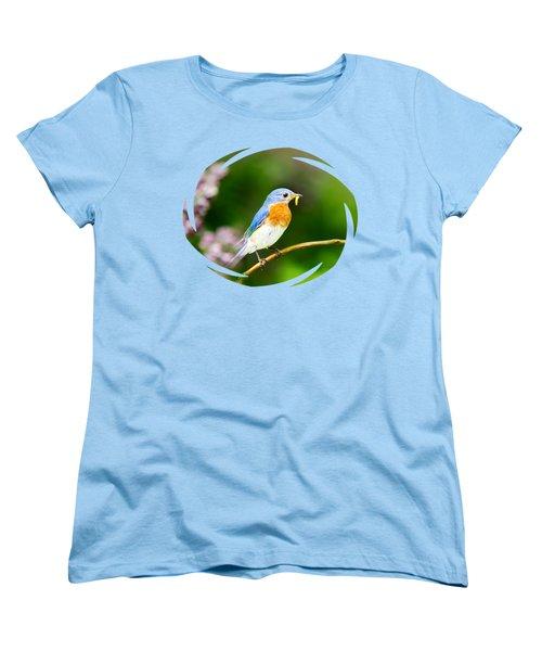 Bluebird Women's T-Shirt (Standard Cut) by Christina Rollo