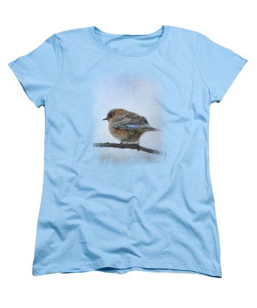 Bluebird In The Snow Women's T-Shirt (Standard Cut) by Jai Johnson