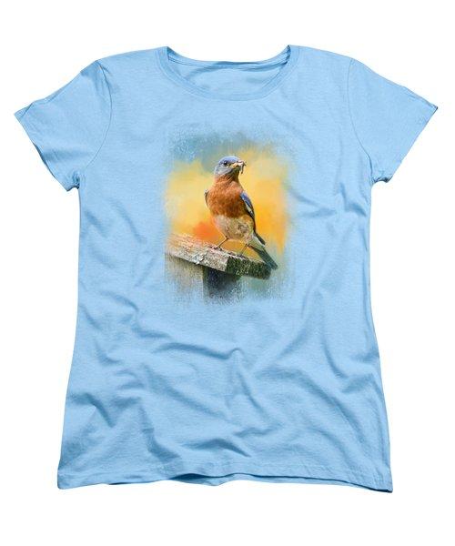 Bluebird Mealtime Women's T-Shirt (Standard Cut) by Jai Johnson