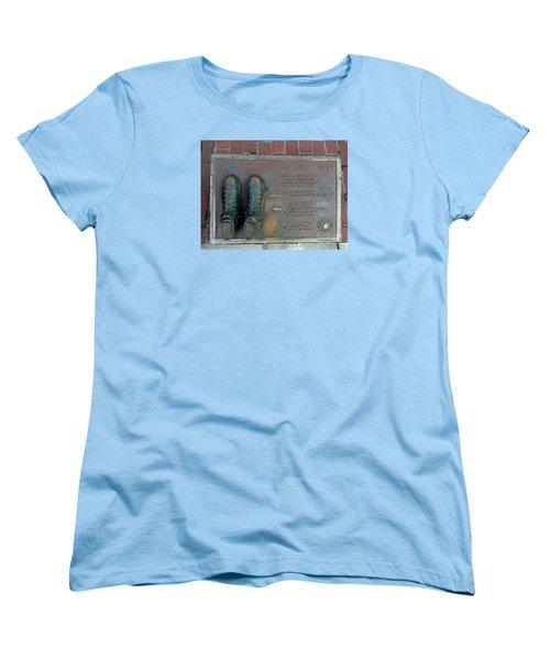 Boston Celtics Larry Bird Women's T-Shirt (Standard Cut) by Gina Sullivan