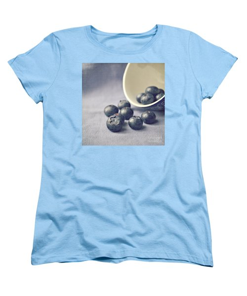 Bowl Of Blueberries Women's T-Shirt (Standard Cut) by Lyn Randle