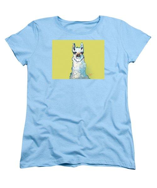 Bright Mustard Llama Women's T-Shirt (Standard Cut) by Niya Christine
