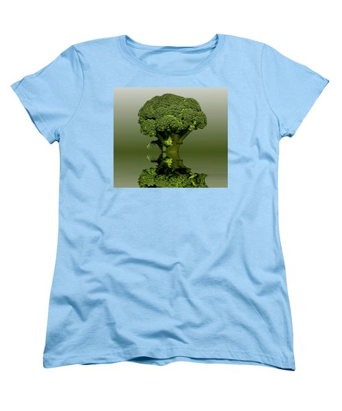 Broccoli Green Veg Women's T-Shirt (Standard Cut) by David French