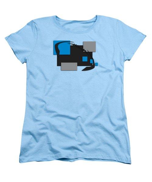 Carolina Panthers Abstract Shirt Women's T-Shirt (Standard Cut) by Joe Hamilton