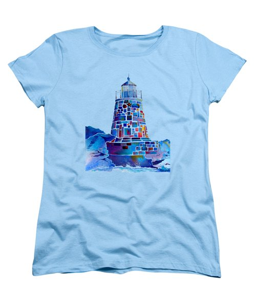 Castle Hill Newport Lighthouse Women's T-Shirt (Standard Cut) by Jo Lynch