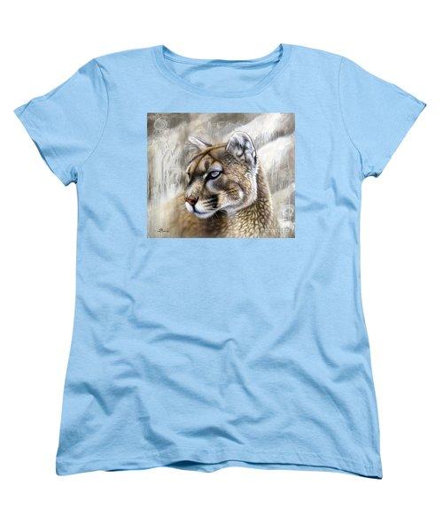 Catamount Women's T-Shirt (Standard Cut) by Sandi Baker