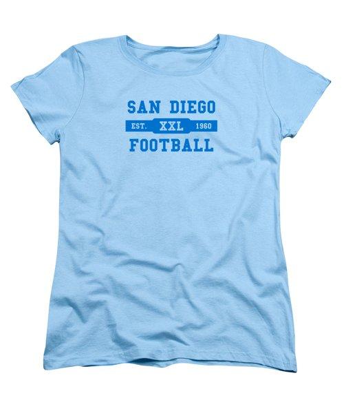 Chargers Retro Shirt Women's T-Shirt (Standard Cut) by Joe Hamilton