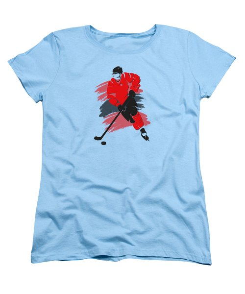 Chicago Blackhawks Player Shirt Women's T-Shirt (Standard Cut) by Joe Hamilton