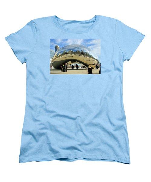 Chicago Reflected Women's T-Shirt (Standard Cut) by Kristin Elmquist