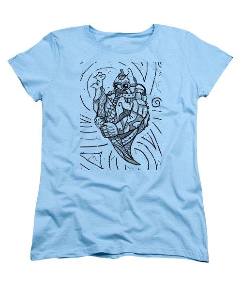 Chicken Master Women's T-Shirt (Standard Cut) by Erki Schotter