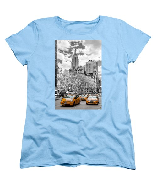 City Of Cabs Women's T-Shirt (Standard Cut) by Az Jackson
