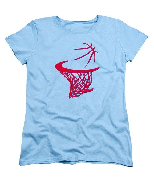 Clippers Basketball Hoop Women's T-Shirt (Standard Cut) by Joe Hamilton