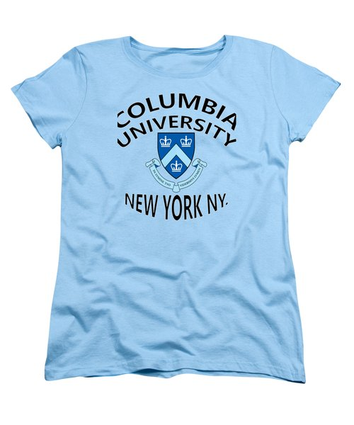 Columbia University New York Women's T-Shirt (Standard Cut) by Movie Poster Prints
