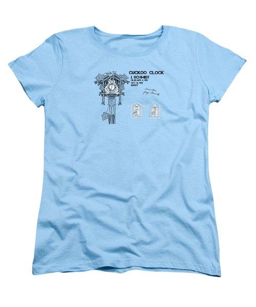 Cuckoo Clock Patent Art Women's T-Shirt (Standard Cut) by Justyna JBJart