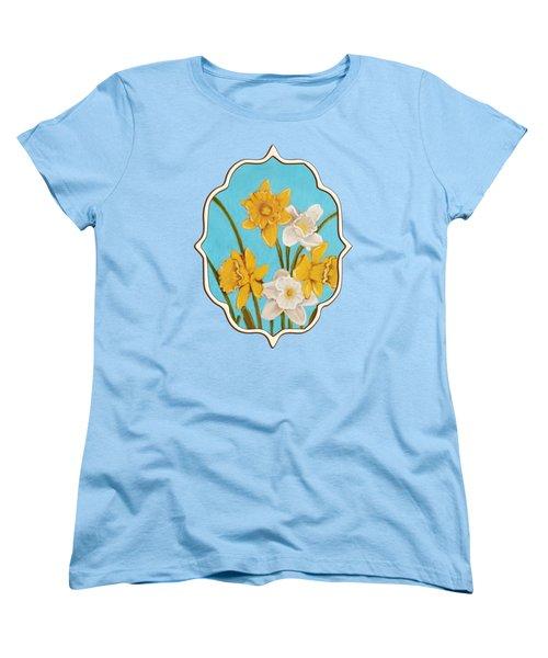 Daffodils Women's T-Shirt (Standard Cut) by Anastasiya Malakhova