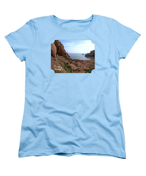 Daisies In The Granite Rocks At Corbiere Women's T-Shirt (Standard Cut) by Gill Billington