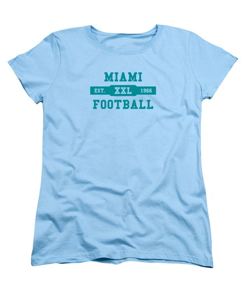 Dolphins Retro Shirt Women's T-Shirt (Standard Cut) by Joe Hamilton