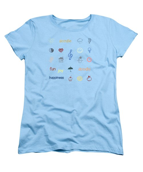 Doodle Women's T-Shirt (Standard Cut) by Jutta Maria Pusl