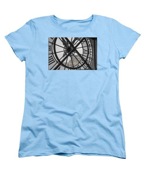 D'orsay Clock Paris Women's T-Shirt (Standard Cut) by Joan Carroll
