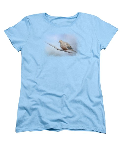 Dove In The Snow Women's T-Shirt (Standard Cut) by Jai Johnson