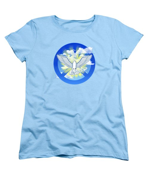 Dove Of Peace Women's T-Shirt (Standard Cut) by Chris MacDonald