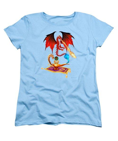 Dragon Genie Women's T-Shirt (Standard Cut) by Glenn Holbrook
