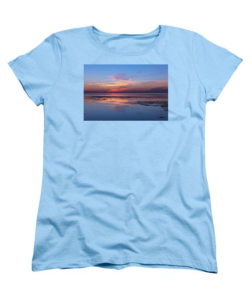 Women's T-Shirt (Standard Cut) featuring the photograph Draw The Line by Thierry Bouriat