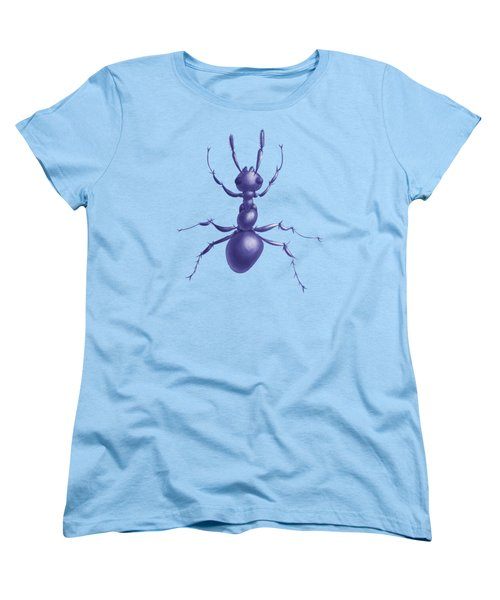 Drawn Purple Ant Women's T-Shirt (Standard Cut) by Boriana Giormova