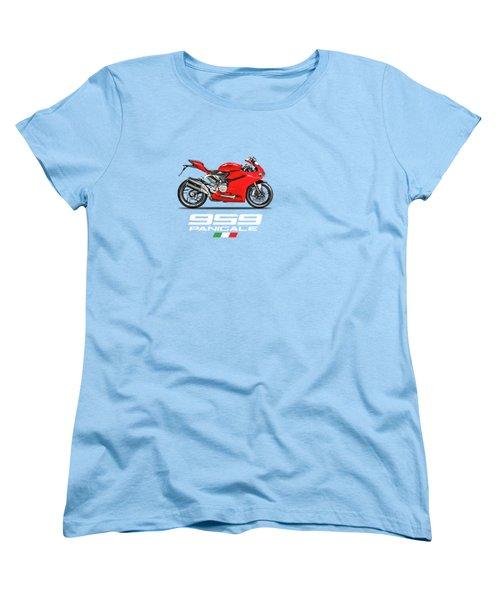 Ducati Panigale 959 Women's T-Shirt (Standard Cut) by Mark Rogan